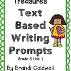 Treasures Common Core Text Based Writing Prompts, 5th Grad