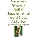 Treasures Grade 1 Unit 4 Supplemental Word Study Activitie