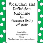 Treasures Grade 2 Unit 3 Vocabulary Matching