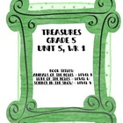 Treasures Grade 5, Unit 5 small group activities for 5 wee