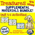 Treasures 4th Grade Language Arts Reading Bundle Units 4, 5, 6