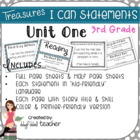 Treasures &quot;I Can&quot; Posters-Unit 1 Reading Comprehension (Grade 3)