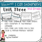 "Treasures ""I Can"" Posters-Unit 3 Reading Comprehension (Grade 3)"