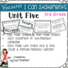 "Treasures ""I Can"" Posters-Unit 5 Reading Comprehension (Grade 3)"