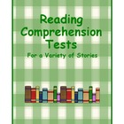 Treasures Reading Comprehension Tests for Second Grade