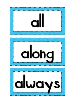 Treasures Reading Resources 1st Grade - High Frequency Word Cards
