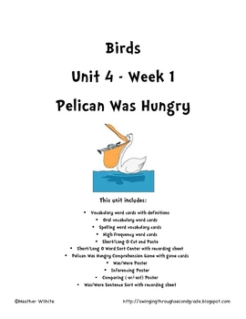 Treasures Reading Series Unit 4 - Week 1 Pelican Was Hungry