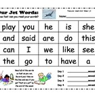 Treasures Sight Words for Start Smart weeks 1-3