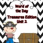Treasures Unit 2 --Word of the Day and Cut/Paste Sentences