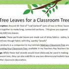 Tree Leaves for a Classroom Tree (Shiny-Leaf Version)