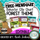 """Treemendous"" Behavior Clip Chart Forest Theme"
