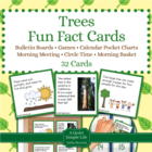 Trees Fact Cards for Calendar Pocket Charts - Trees Unit E