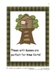 """Trees"" Mini-Unit: Integrating science, literacy, drama, m"