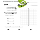 Triangle Centers Coordinate Geometry: Common Core Performa