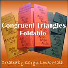 Triangle Congruence Postulate/Theorem Foldable~SSS~SAS~ASA