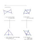 Triangle Proof Worksheet