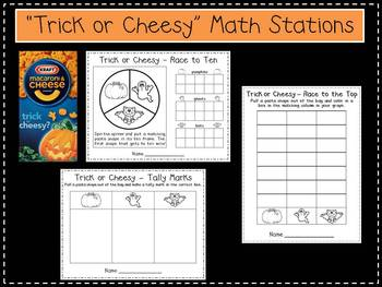 Trick or Cheesy Halloween Math Stations