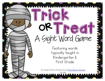 Trick or Treat - A Halloween Sight Word Game
