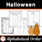 Trick or Treat Alphabetical Order
