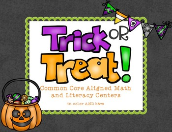 Trick or Treat Common Core Math and Literacy Centers in Co
