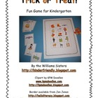 Trick or Treat!  Freebie Fun Game for Kindergarten