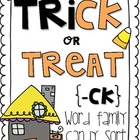 Trick or Treat {-ck Candy Sort}