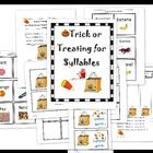 Trick or Treating for Syllables sorting activity and sylla