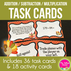 Tricky Turkey Math Game Cards
