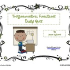 Trigonometric Functions Daily Quiz