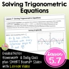 Trigonometric Functions Lesson 7: Solving Trigonometric Equations