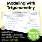 Trigonometric Functions Lesson 8: Solving Problems With Tr