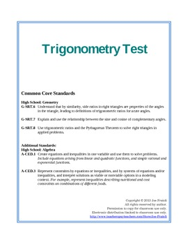 Trigonometry Test