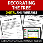 Trimming the Tree:  Decimal Multiplication Freebie - 5th a