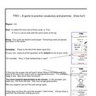 Trio Game for ESL- Customizable!  Vocabulary, Grammar, Con