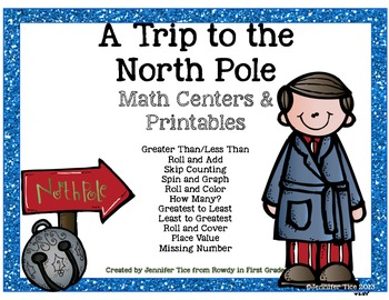 Trip to the North Pole Math Centers