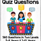 Trivia Questions Quiz Questions Elementary Students Two Le