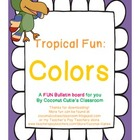 Tropical Fun Decor {Colors Bulletin Board}