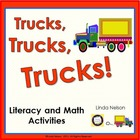 Trucks Literacy and Math Activities