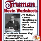Truman Movie -- 38 Questions -- Word and Examview formats