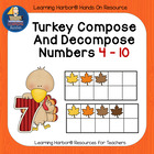 Turkey Compose and Decompose Numbers  Ready To Go Game