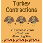 Turkey Contractions Activity - Perfect for Thanksgiving!