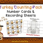 Turkey Counting Pack for 2's 5's and 10's