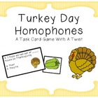 Turkey Day Homophone Task Cards