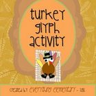 Turkey Glyph Activity (Thanksgiving Math &amp; Language Arts Poetry)