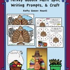 Turkey Gobble Math Spin, Writing Prompts, & Turkey Craft