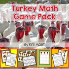 Turkey Math Game Pack - Let's Talk Turkey