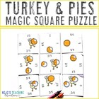 Turkey & Pie Fraction Magic Square Puzzle