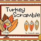 Turkey Sight Word Scramble
