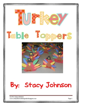 Turkey Table Toppers