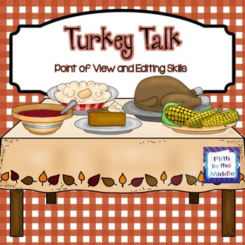 Thanksgiving ELA Center for Upper Elementary Freebie - Tur